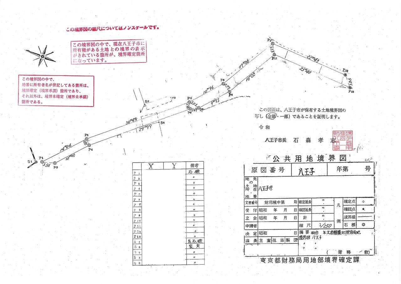 隣地境界が確定していない土地の事前調査について【八王子】